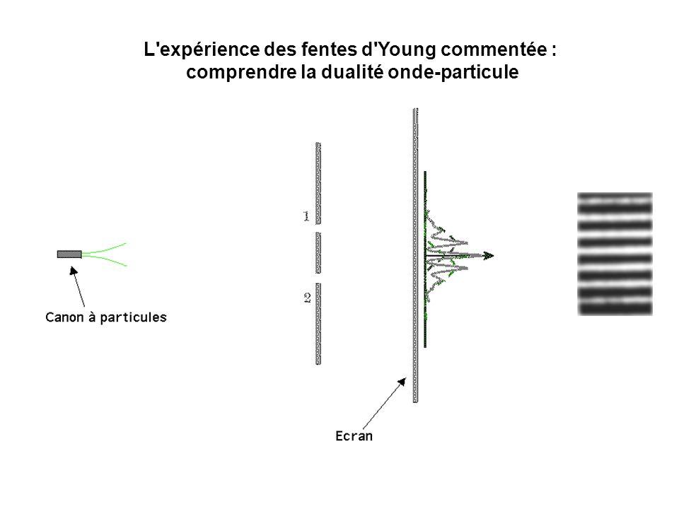 L'expérience des fentes d'Young commentée : comprendre la dualité onde-particule