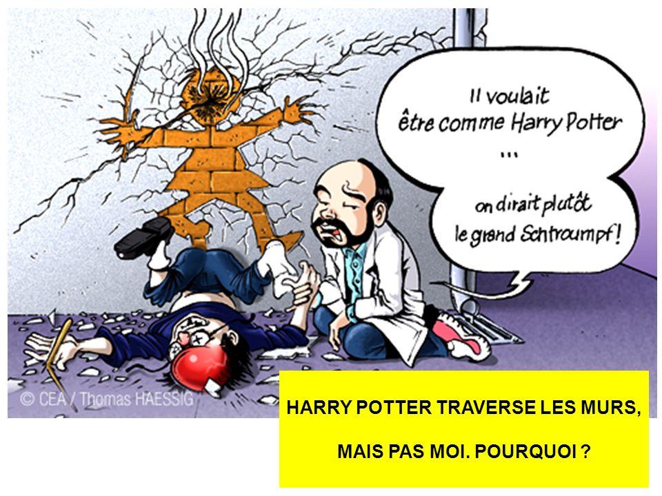 HARRY POTTER TRAVERSE LES MURS, MAIS PAS MOI. POURQUOI ?