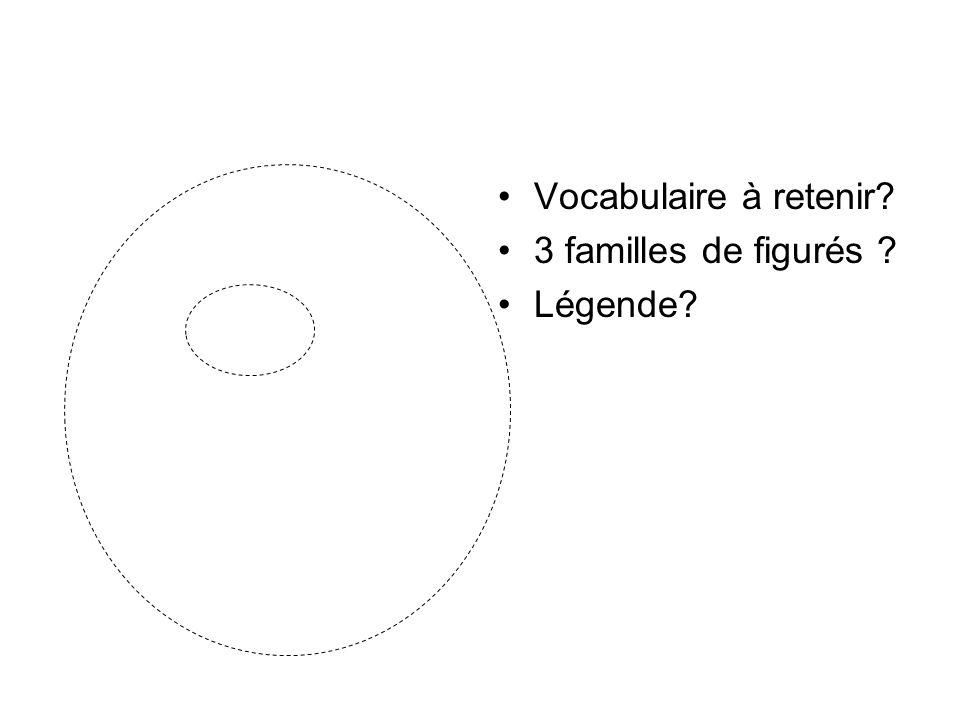 Vocabulaire à retenir? 3 familles de figurés ? Légende?