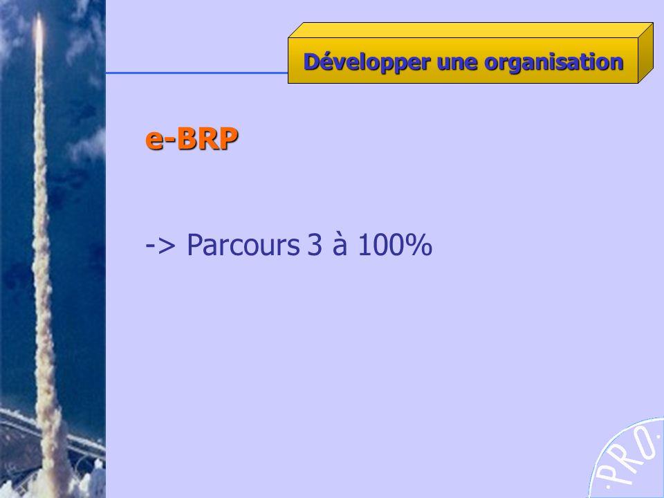 e-BRP -> Parcours 3 à 100% Développer une organisation
