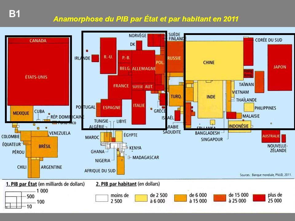 Anamorphose du PIB par État et par habitant en 2011 B1