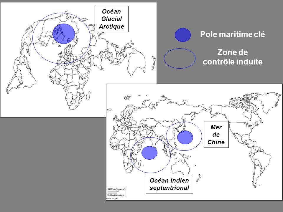 Pole maritime clé Zone de contrôle induite Océan Glacial Arctique Océan Indien septentrional Mer de Chine