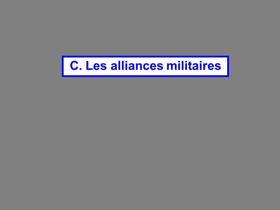 C. Les alliances militaires