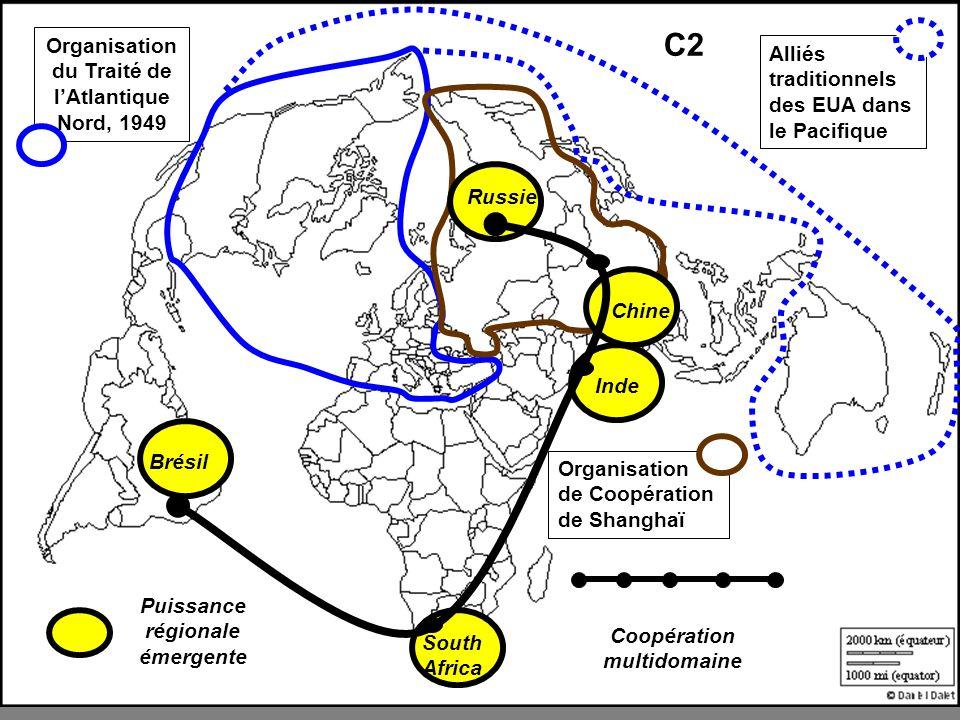 Organisation du Traité de lAtlantique Nord, 1949 Alliés traditionnels des EUA dans le Pacifique Organisation de Coopération de Shanghaï Puissance régi