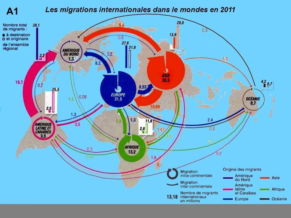Les migrations internationales dans le mondes en 2011 A1
