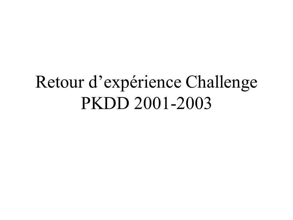 Retour dexpérience Challenge PKDD 2001-2003