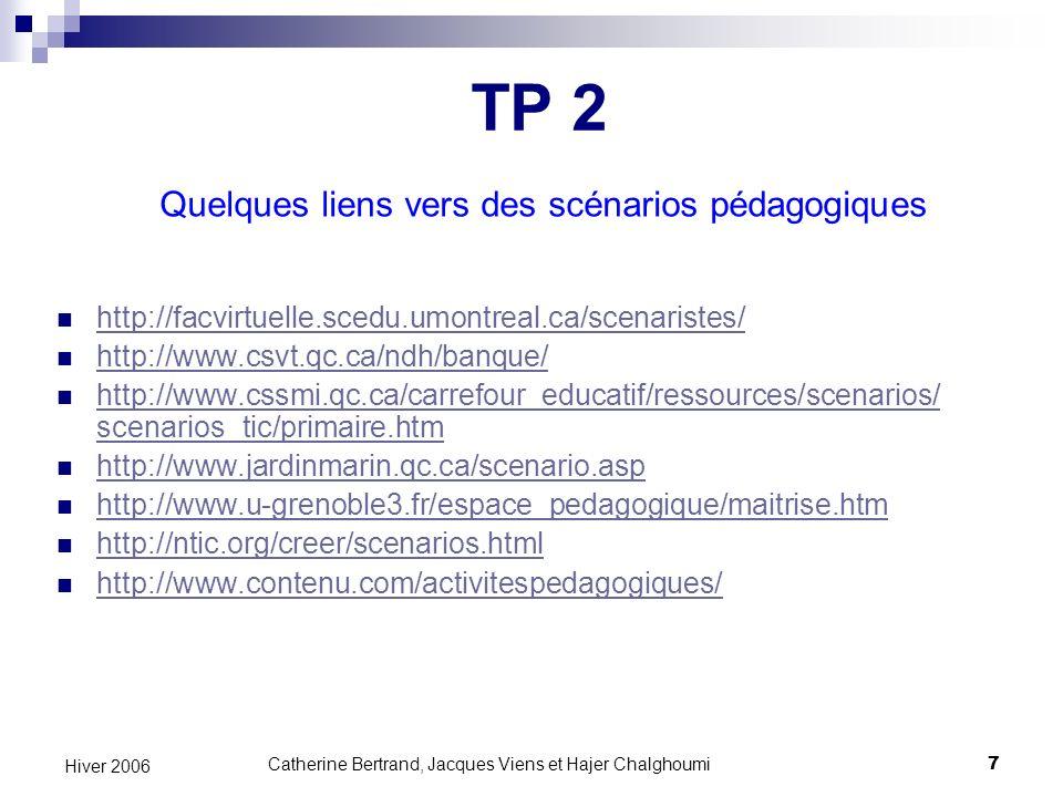 Catherine Bertrand, Jacques Viens et Hajer Chalghoumi18 Hiver 2006 « La puissance du Web est dans son universalité.