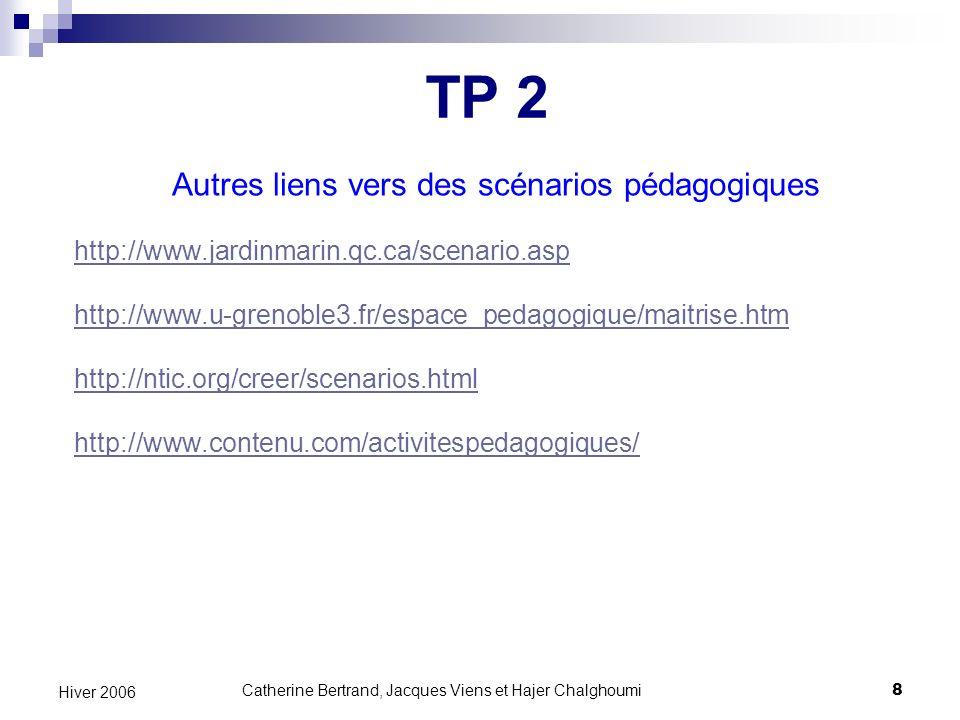 Catherine Bertrand, Jacques Viens et Hajer Chalghoumi19 Hiver 2006 Qu est-ce que l accessibilité du Web .