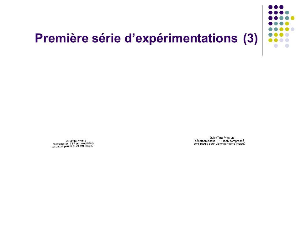 B.Campion - Nov. 2011 Première série dexpérimentations (3)