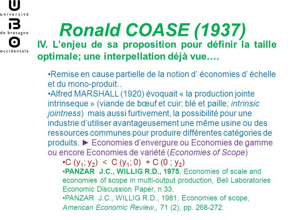 Ce quil faut retenir: Les origines de la Théorie (économique) des organisations -COASE- 1937- The nature of the firm -Sa question: Pourquoi y-at-il des organisations .