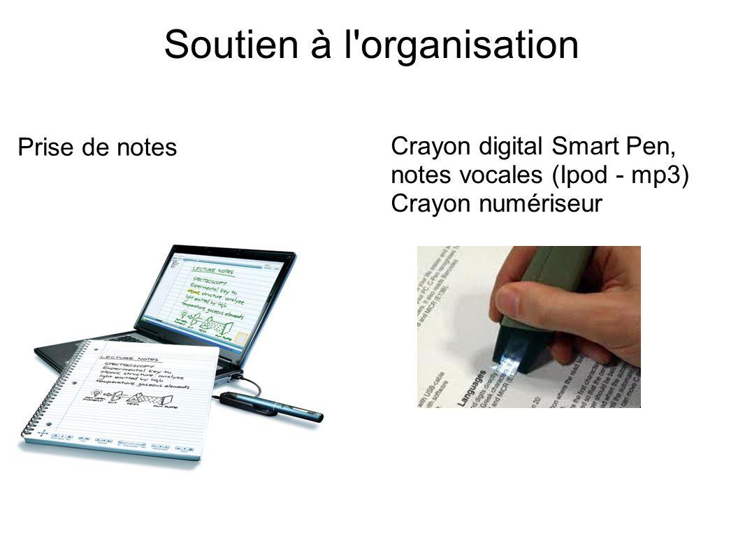 Soutien à l organisation Prise de notes Crayon digital Smart Pen, notes vocales (Ipod - mp3) Crayon numériseur