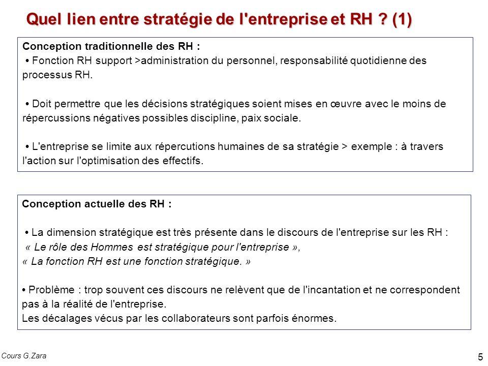 Quel lien entre stratégie de l entreprise et RH .(2) La difficulté est dans le « Comment faire .