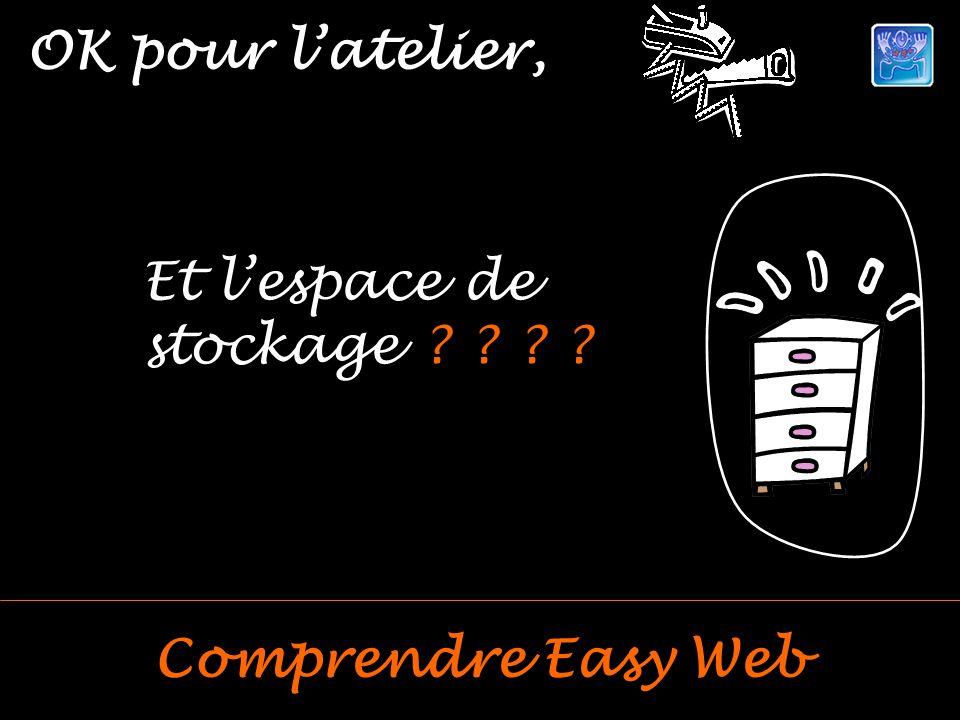 OK pour latelier, Comprendre Easy Web Et lespace de stockage ? ? ? ?