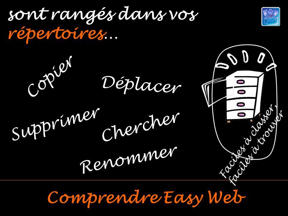 Comprendre Easy Web sont rangés dans vos répertoires… Faciles à classer, faciles à trouver Copier Renommer Déplacer Supprimer Chercher
