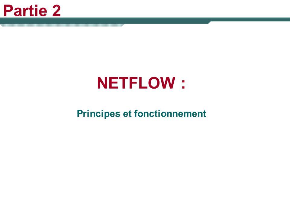Partie 2 NETFLOW : Principes et fonctionnement