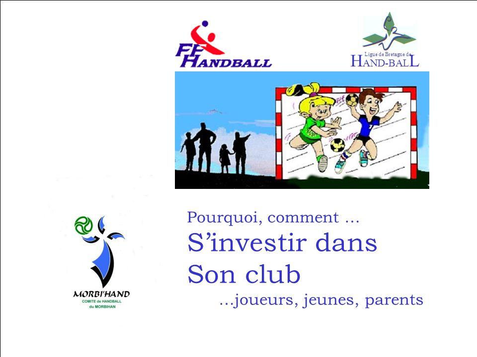 Pourquoi, comment … Sinvestir dans Son club …joueurs, jeunes, parents H AND-BAL L Ligue de Bretagne de