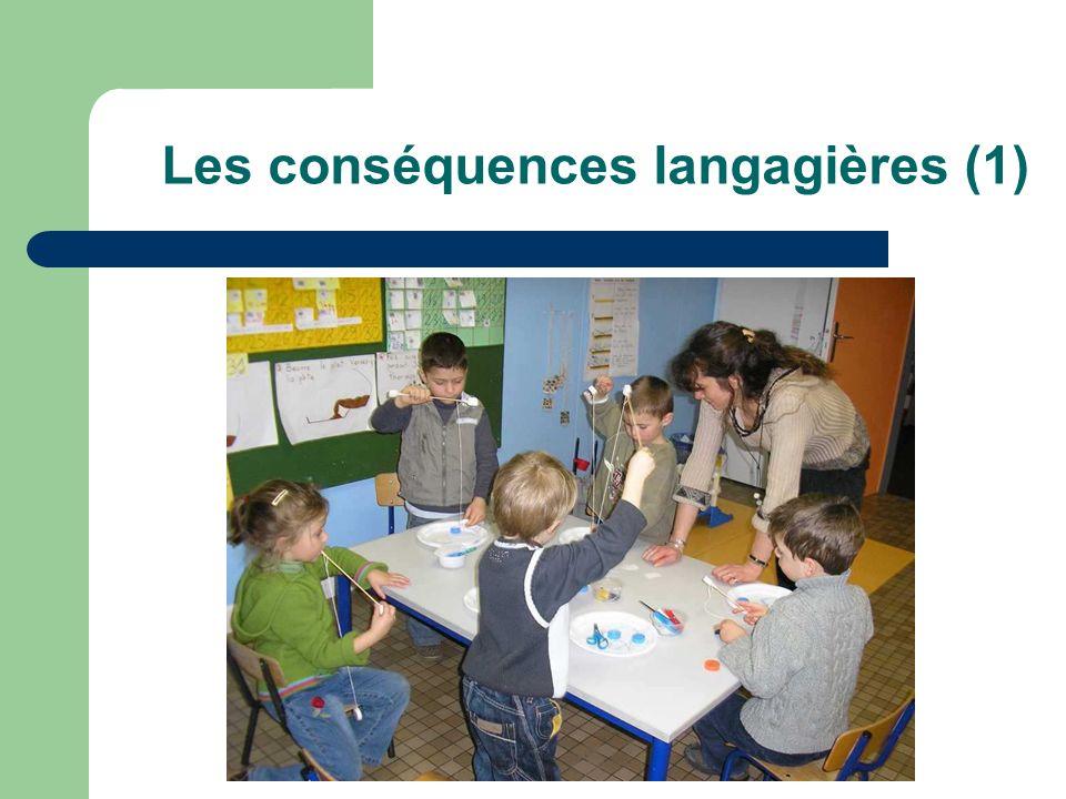 Les conséquences langagières (1)