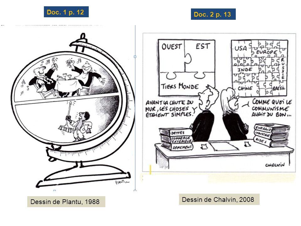 Doc. 1 p. 12 Doc. 2 p. 13 Dessin de Plantu, 1988 Dessin de Chalvin, 2008