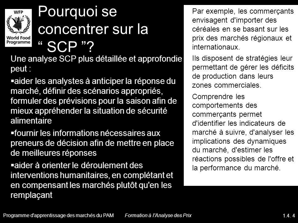 Pourquoi se concentrer sur la SCP ? Une analyse SCP plus détaillée et approfondie peut : aider les analystes à anticiper la réponse du marché, définir