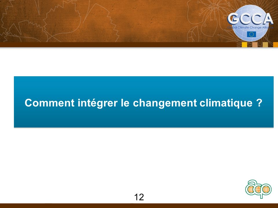 Comment intégrer le changement climatique 12