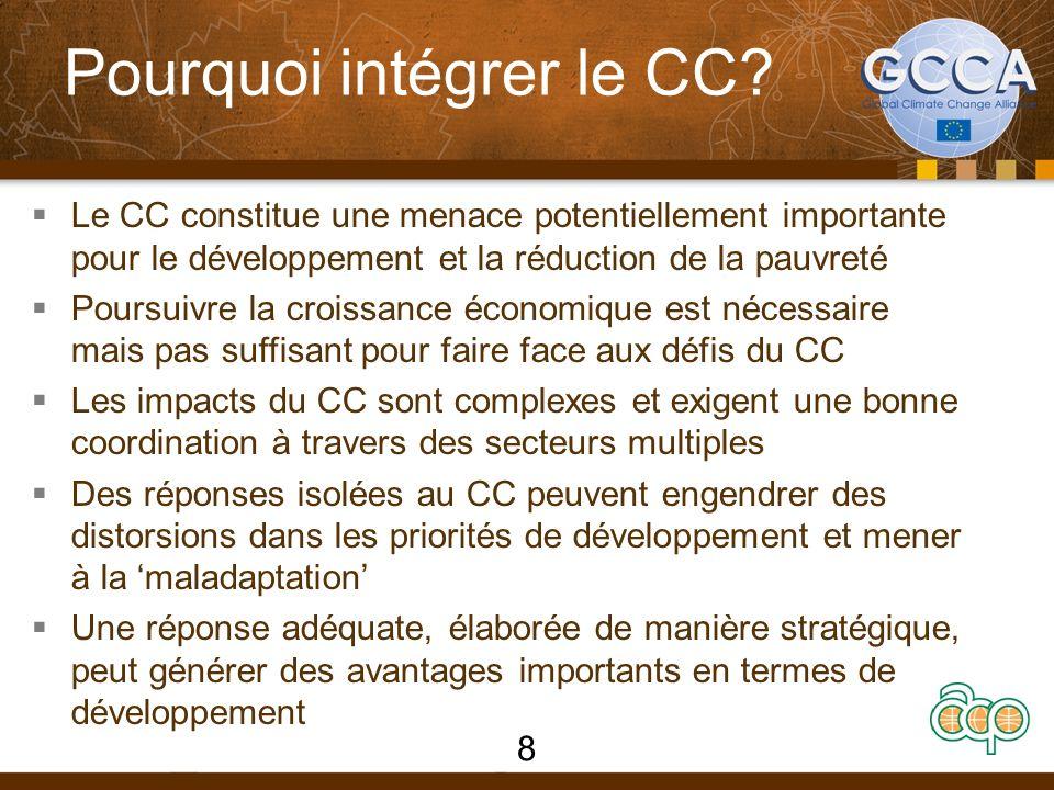 Pourquoi intégrer le CC.