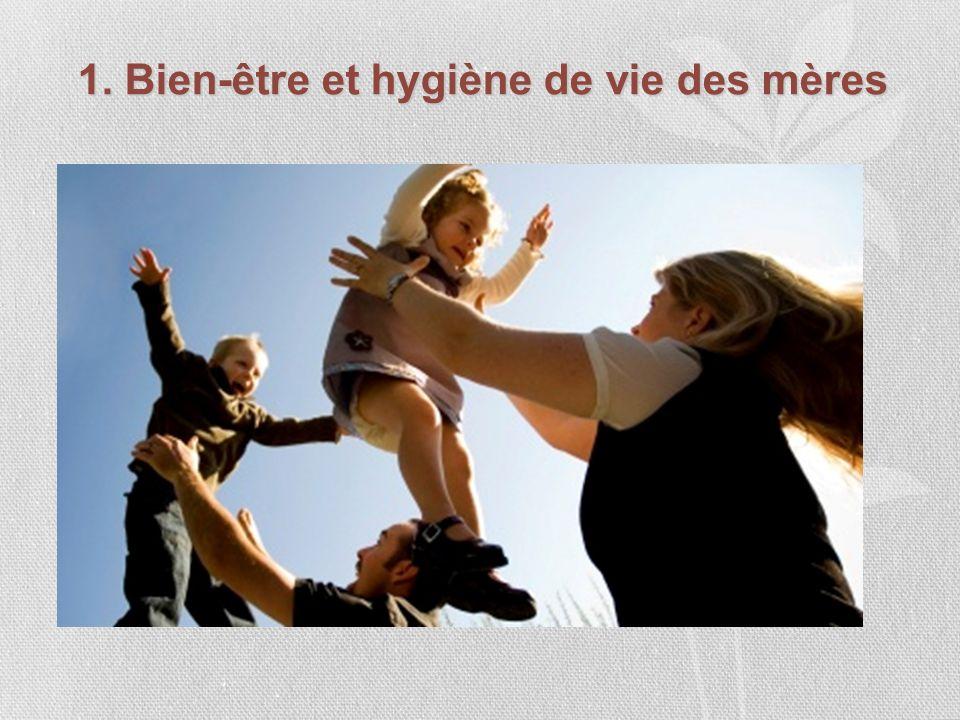 1. Bien-être et hygiène de vie des mères