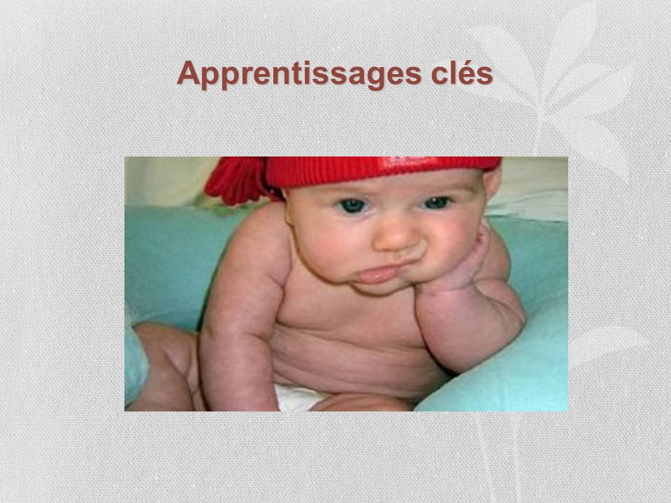 Apprentissages clés