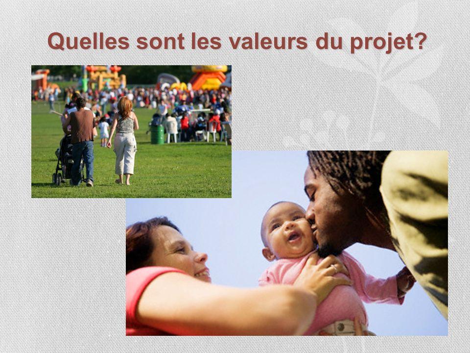 Quelles sont les valeurs du projet