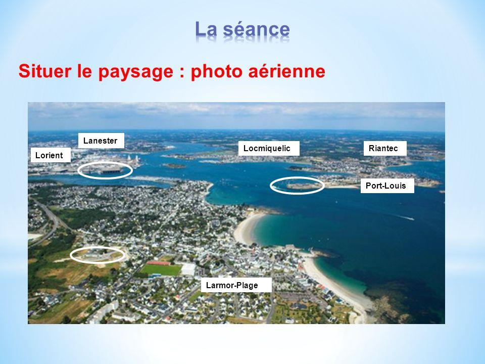 Situer le paysage : photo aérienne Larmor-Plage Lorient Port-Louis RiantecLocmiquelic Lanester