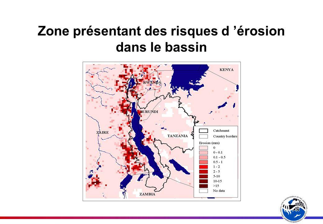Zone présentant des risques d érosion dans le bassin