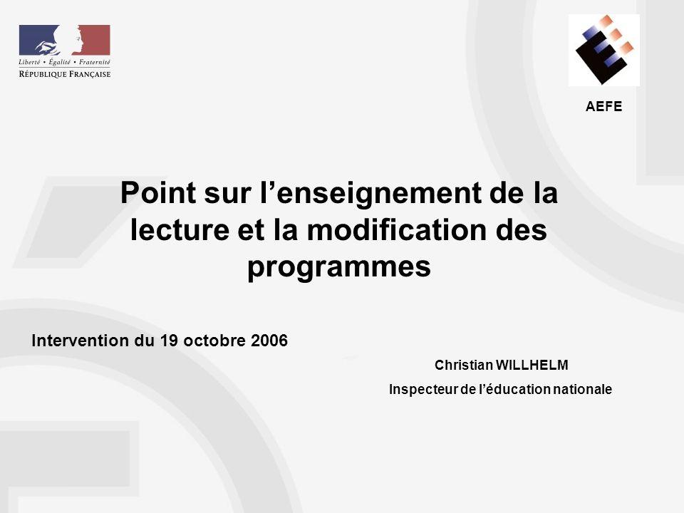 AEFE Les spécificités de la lecture en langue française Lapprentissage du français écrit soulève deux problèmes.