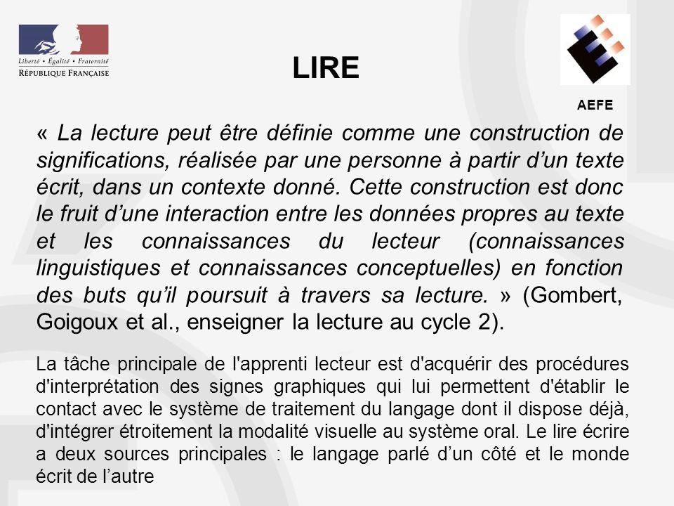 AEFE Les spécificités de la lecture en langue française Le second problème a trait aux caractéristiques de la langue française écrite.