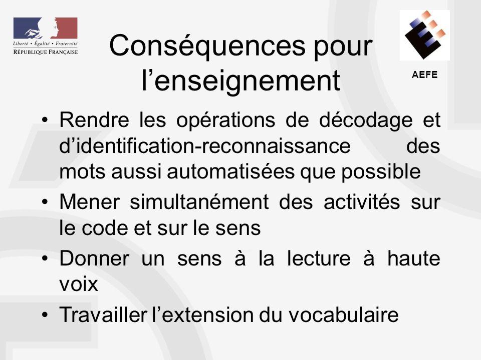 AEFE On se fonde pour ce faire sur les régularités entre loral et lécrit dans la transcription de la langue française.