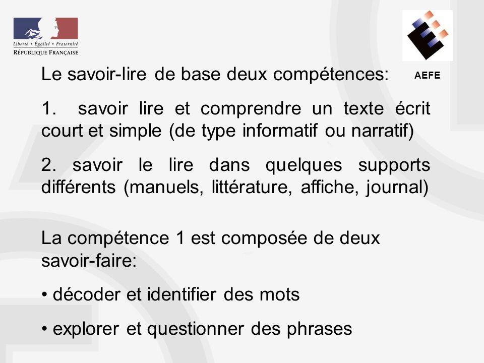 AEFE Les supports doivent être adaptés à l apprentissage : la systématisation du décodage passe par un travail sur les mots, par exemple sur les frontières syllabiques lorsque la construction syllabique est délicate (ananas : a/na/nas, ou an/an/as).