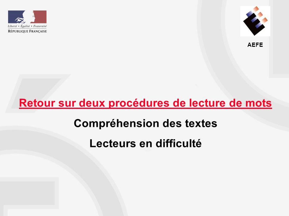 AEFE Document apprendre à lire au cycle 2 Document programmation sur le code Outils pédagogiques à disposition