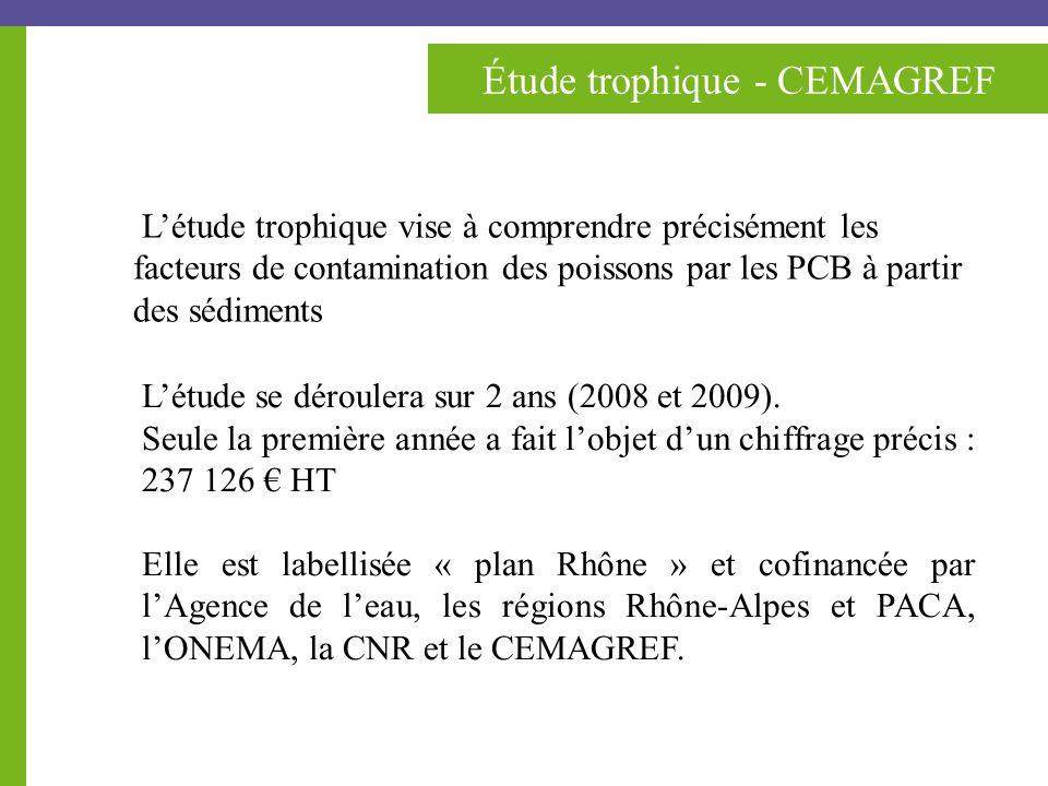 Étude trophique - CEMAGREF Létude se déroulera sur 2 ans (2008 et 2009).