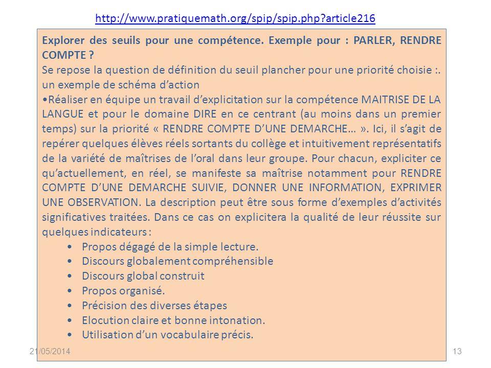2. Les groupes de compétences : comment les définir? Troisième partie 21/05/201412