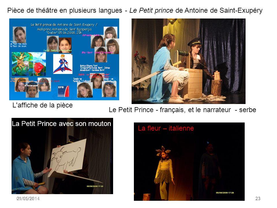 Marie Darrieussecq à Lécole française de Belgrade - organisée par Mme Claire Bernard, professeur de français. 21/05/201422