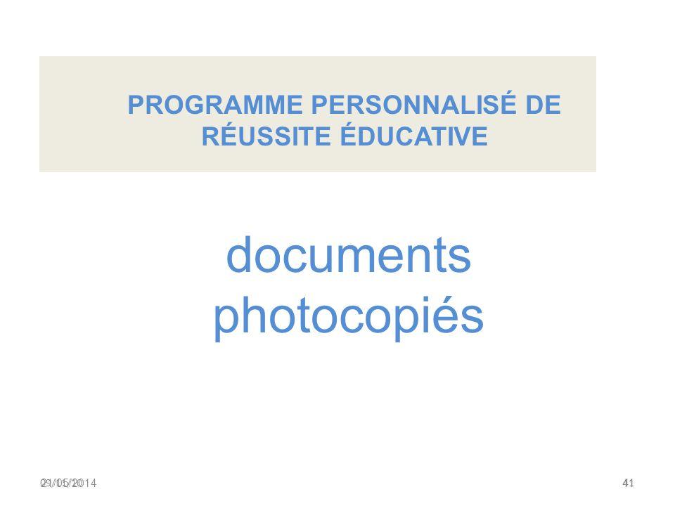 2.Présentation du projet de fichier à lusage des enseignants (APP) Septième partie 21/05/201440