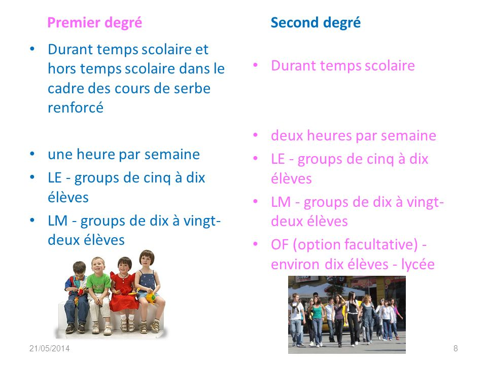 Deuxième partie 1. Quand, comment, avec quels documents et groupes d'élèves? 21/05/20147