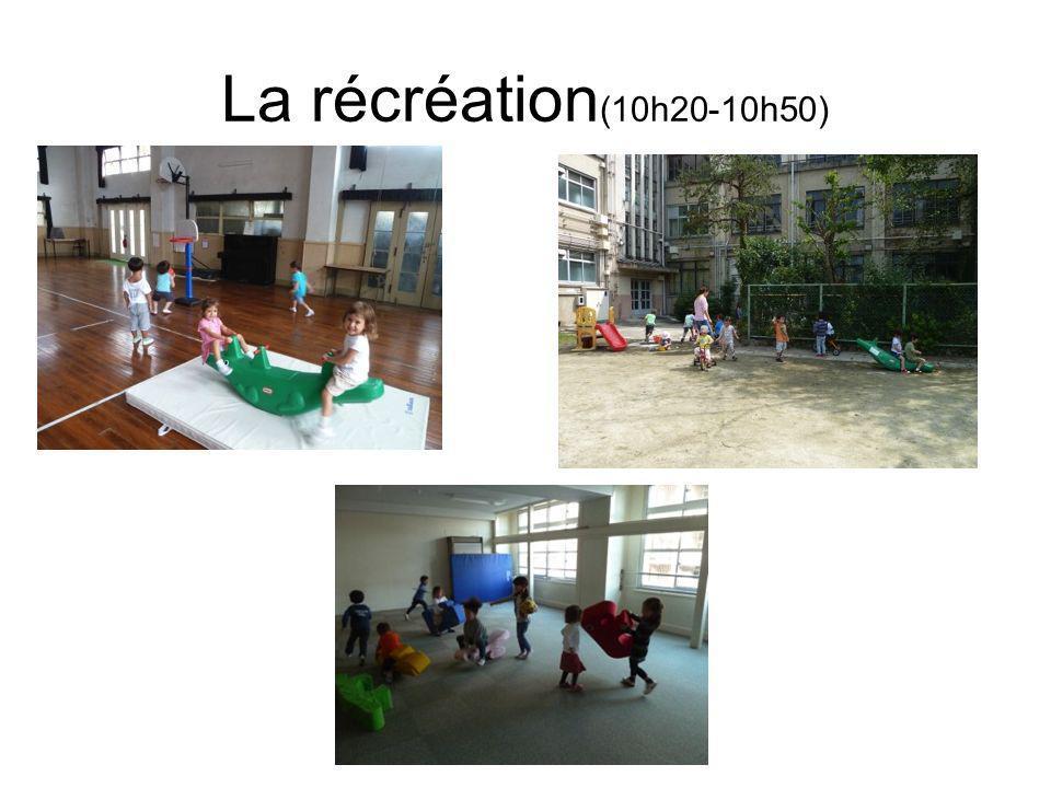 La récréation (10h20-10h50)