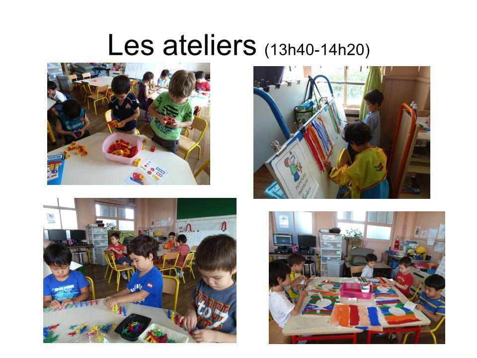 Les ateliers (13h40-14h20)