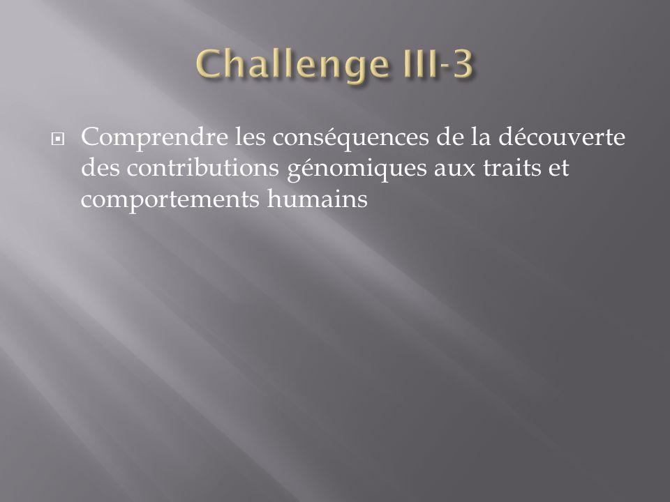 Comprendre les conséquences de la découverte des contributions génomiques aux traits et comportements humains