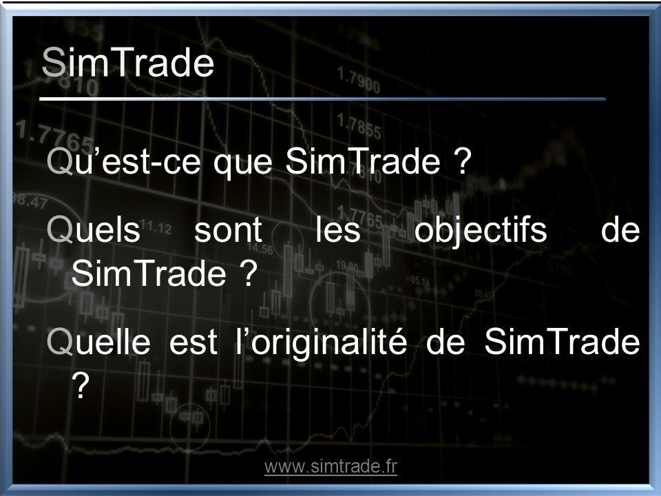 C e que nous recherchons Toute personne ayant la volonté deffectuer un acte fondateur avec SimTrade www.simtrade.fr