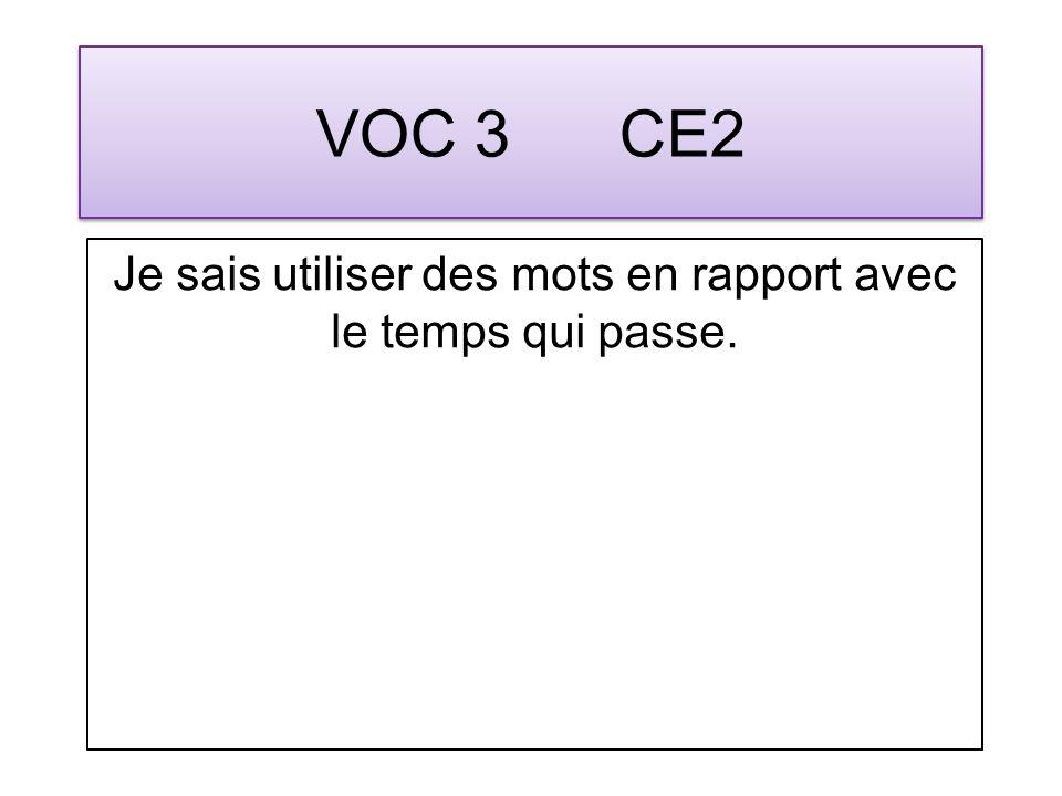 VOC 14 CM1 Jutilise le contexte pour comprendre le sens din mot inconnu.