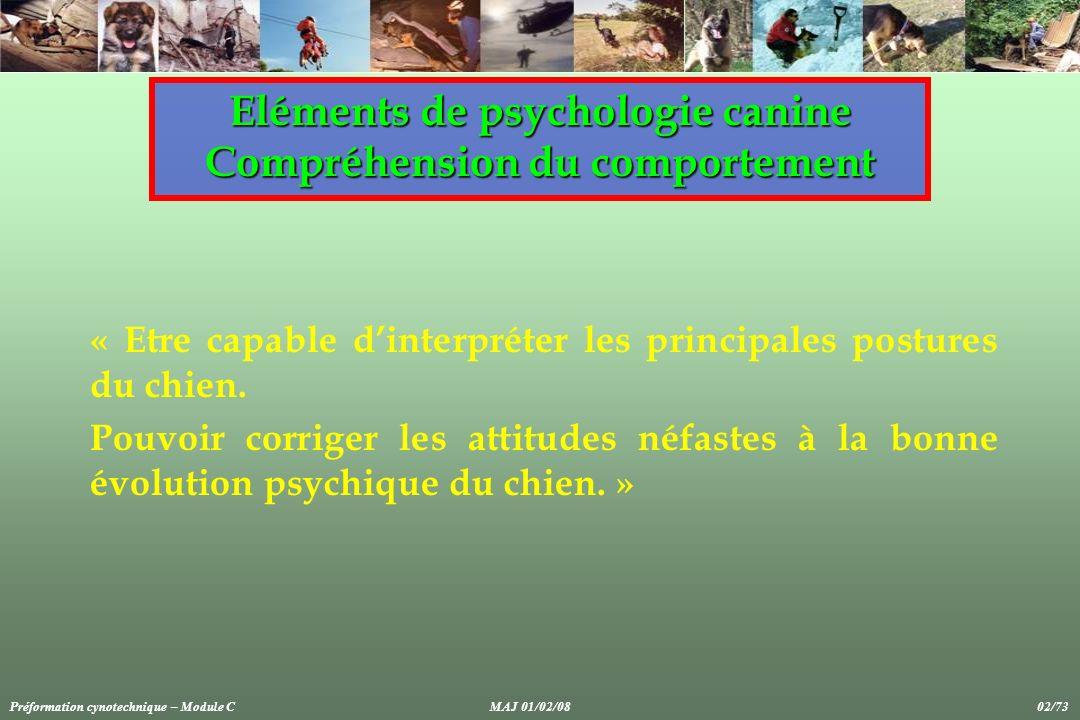 Préformation cynotechnique – Module CMAJ 01/02/08 73/73