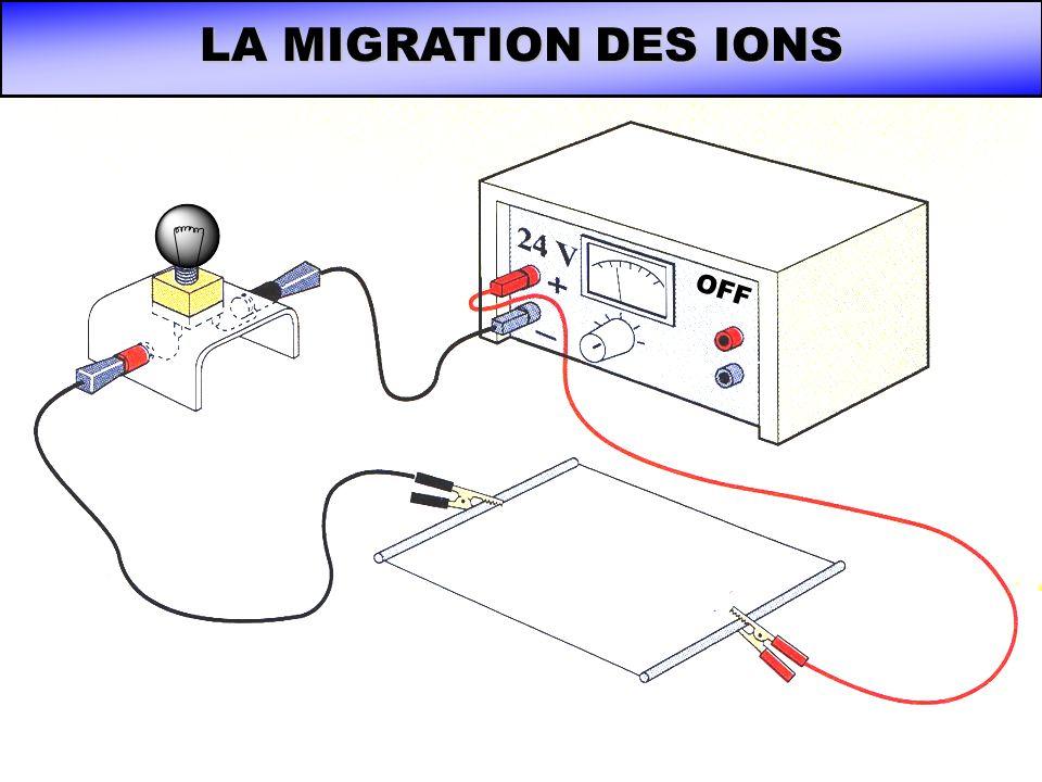 LA MIGRATION DES IONS OFF