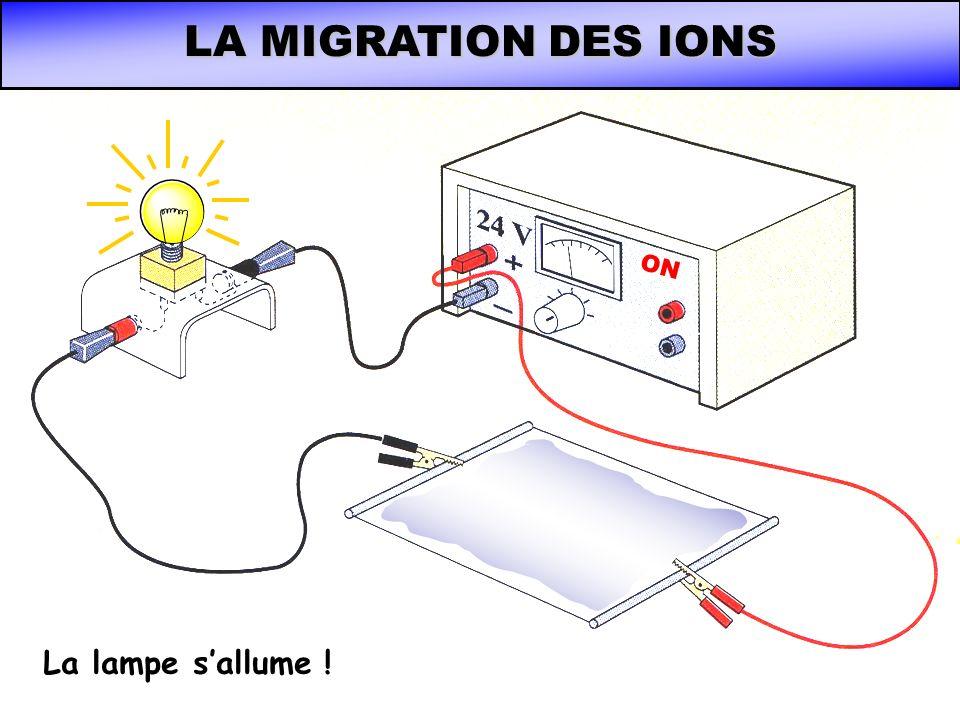 LA MIGRATION DES IONS ON La lampe sallume !