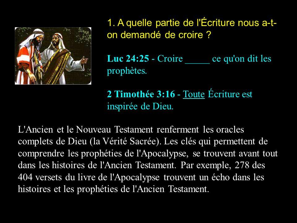 2.Selon Jésus, de qui les Écritures et les prophéties parlent .