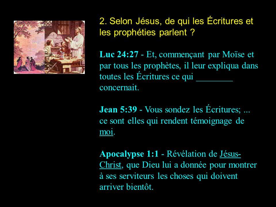 Jésus est le personnage central de toutes les Écritures et prophé- ties.